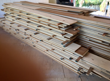 Hardwood Flooring ready to be installed in a Maui home